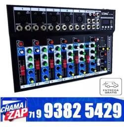 Mesa De Som Lelong 7 Canais Bluetooth Visor Equalizador Mixer Digital LE-709
