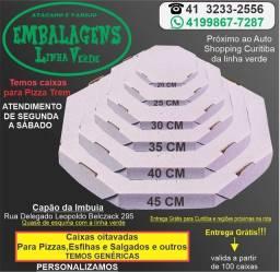Caixa de pizza brancas (personalizamos)