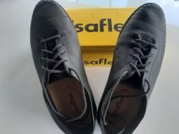 Sapato Usaflex feminino Preto Forro Com Espuma