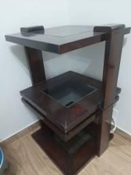 Título do anúncio: mesas de madeira maciça e tampa de vidro
