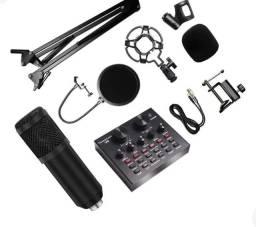 Título do anúncio: <br>Kit Interface Mesa V8 + Microfone Bm800 Com Braço Articulado