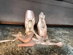 Título do anúncio: Sapatilha de Ponta e Ponteira de Silicone - Ballet - Usada 2 vezes
