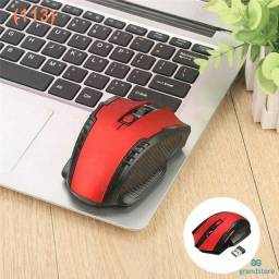 Mouse Óptico Sem Fio De 2.4ghz Com Receptor Usb Mause Para Laptops / Pc