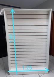 Título do anúncio: Vendo 2 painel canaletado e 1 armário com portas na cor branca.