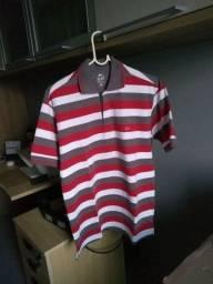 Camisa pool manga curta listrada Tam m