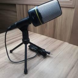 Título do anúncio: Microfone Condensador Multimídia Youtuber Live Vídeo Aula Streaming
