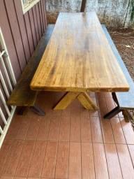 Título do anúncio: Mesa e namoradeira madeira maciça