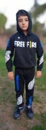 Conjunto free fire tamanho 10