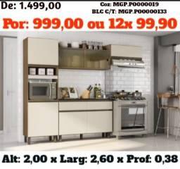 MS Liquida- Cozinha Modulada com Balcão -Armario de Cozinha- Area de Lazer- Gourmet