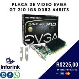 Placa de Video GT 210 1GB 64Bits DDR3 - Nova