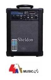 Amplificador Caixa Sheldon Max1000 Bluetooth Multiuso 15wrms