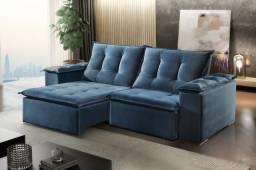 Sofá retrátil e reclinável novo 2,30m