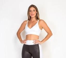 Top Feminino Fitness Branco ou Preto - 4225005