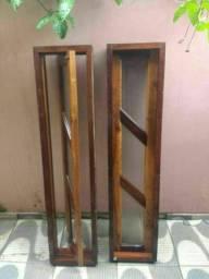 Vendo 2 janelas capelinha madeira imbuía em ótimo estado