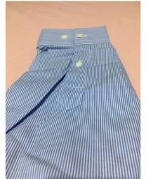 Camisa manga longa azul AD Life Style nova, 100% algodão