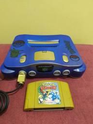 Nintendo 64 completo personalizado estilo pokemon