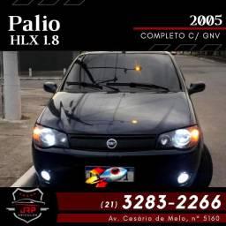 Fiat palio HLX 1.8 completa flex c/ Gnv
