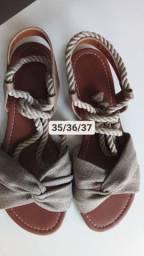 Promoção sandália de amarrar