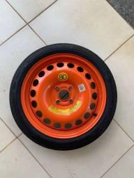 Pneu Estepe com Roda 115/70/R16 Continental
