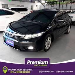Honda Civic 1.8 EXS Automático Top de Linha Teto Solar GNV Injetado 2012