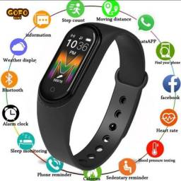 Relógio M5 Pulseira Com Monitor De Pressão Sanguínea / Rastreador De Fitness