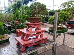 Título do anúncio: Jogo de mesas de exposição para bonsai