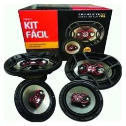 Kit Fácil Alto Falante Bravox 6 + 6x9 Pol 240w 69 Qualidade