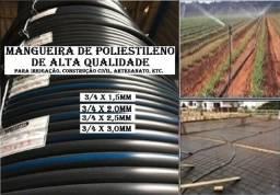 """Título do anúncio: Mangueira p/Irrigação/Constr. 3/4"""" x 1,5mm x 100m  D. Fábrica"""