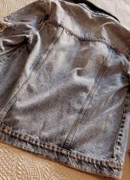 Jaqueta jeans com paetê