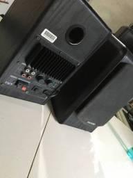 Par Caixa de som 2 Vias 48w Rms Rca Microlab B77