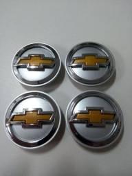 Jogo 4 Pçs Calotas Centro Rodas GM Astra, Vectra, Meriva, Zafira, Spin.