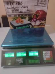 Título do anúncio: Balança de 40 kg digital recarregável bandeja inox novas .