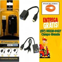 Adaptador de imagem HDMI para VGA - Entrega Grátis para toda Campo Grande