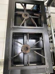 Fogão industrial de alta pressão 2 bocas