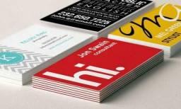 Cartão de visita em promoção