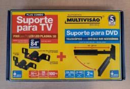 Kit suporte para TV + suporte para DVD - NOVO NA CAIXA !