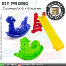 Kit promo G1( Escorregador G + gangorras)