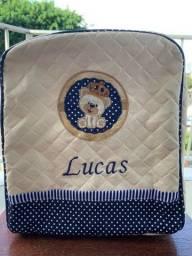 Mochilinha infantil com nome Lucas