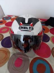 Título do anúncio: Vendo capacete aberto Helt 58 com viseira solar