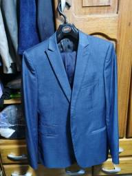 Título do anúncio: Terno azul, corte príncipe de Gales, azul marinho