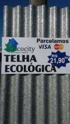 Telha ecologica inquebravel, 100% plastico e aluminio