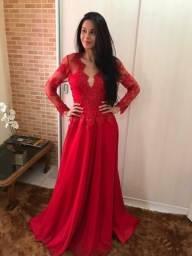 Vestido longo de festa vermelho R$89