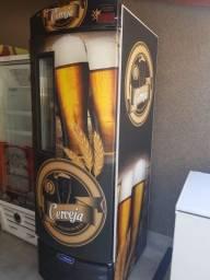 Linda cervejeira novinha p 8 a 9 cx metal frio modo econômico