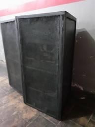 Caixa de Som de uso profissional Newbox dupla de 18 Polegadas para Graves e Sub graves