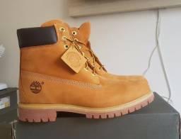 "Bota Timberland Yellow Boot 6"" Premium Feminina Nova, original, c/etiquetas e NF"