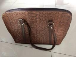 Vendo bolsa pasta feminina marrom seminova