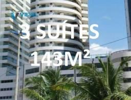 Título do anúncio: Espetacular vista mar 3 Suites 3 varandas 2 salas vista mar nascente 4 garagens