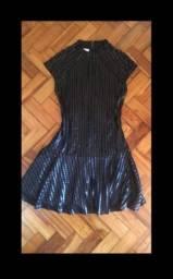 Vestido preto courino M