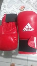 Luva boxe e Muay Thay Adidas e fita rosa