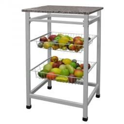 Fruteira jumbo Para Cozinha Suporte Microondas Frutas AçoMix